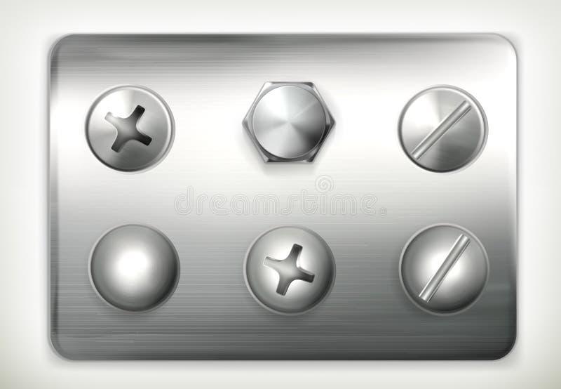 Download Set of screws stock vector. Illustration of aluminum - 25535557