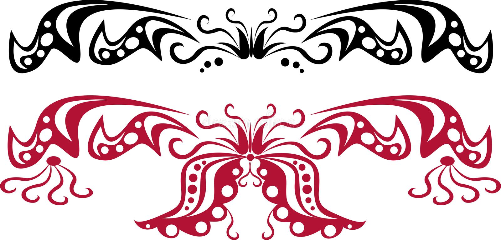 Download Set Of Scroll Patterns (colours As You Wish)1 Stock Photo - Image: 505990