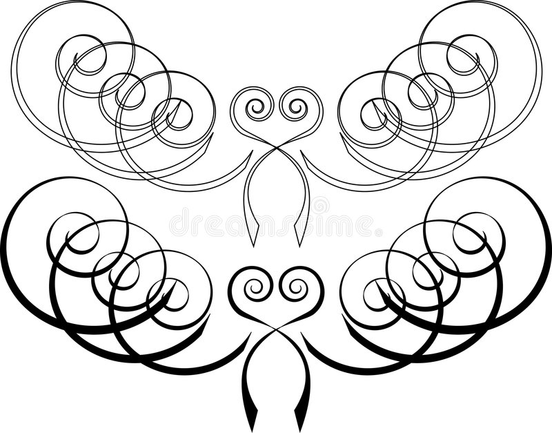 Download Set Of Scroll Patterns (colours As You Wish)2 Stock Image - Image: 505991