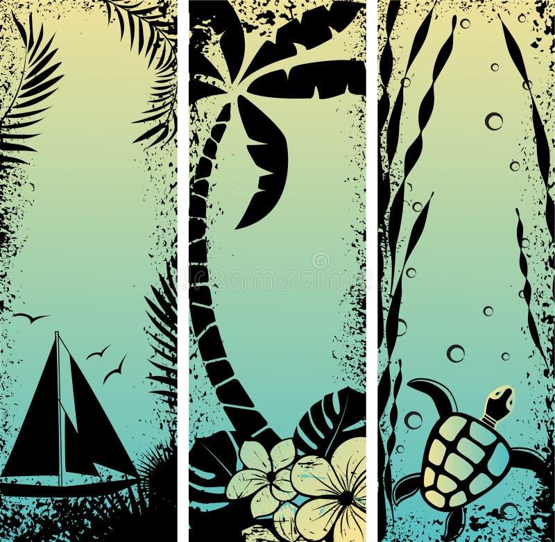 Download Set Sea Grunge Banners. Vector Illustration Stock Vector - Image: 19441983