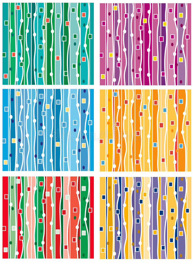 Set of seamless abstract background royalty free stock image