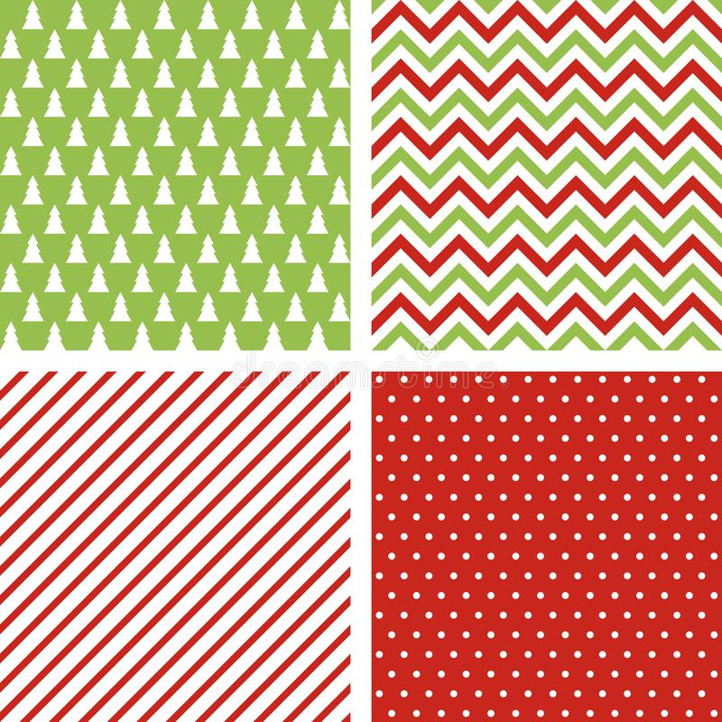 Set of seamless abstract patterns. Christmas backgrounds vector illustration