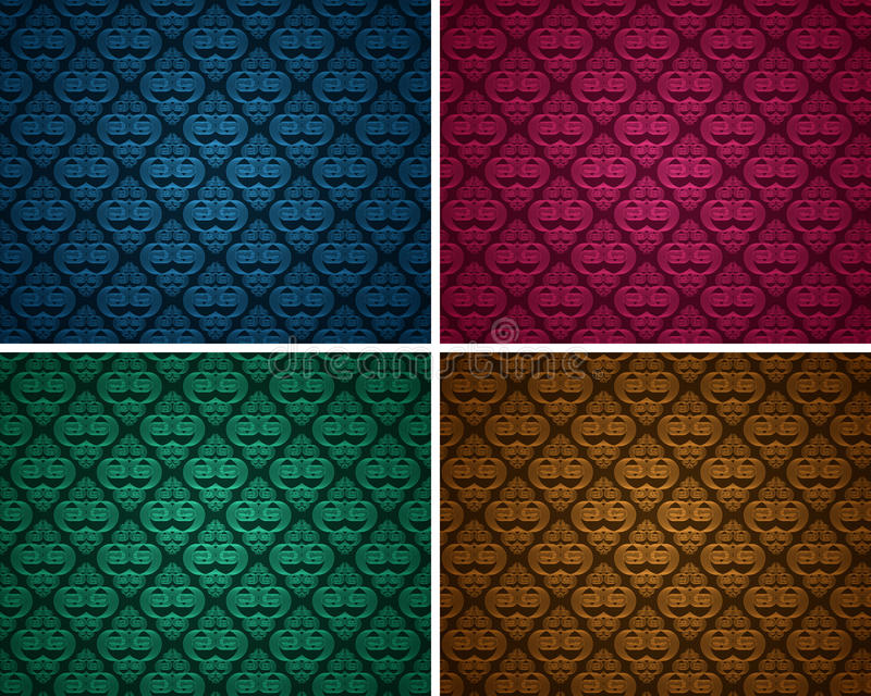 Set of seamless patterns 10 vector illustration