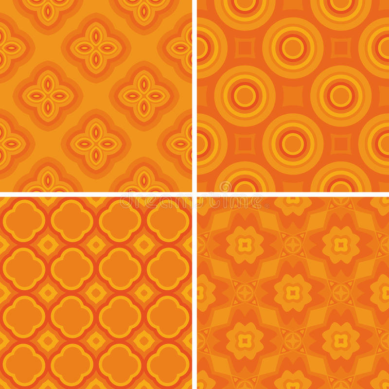 Download Set Seamless Decorative Pattern Royalty Free Stock Photos - Image: 21227398