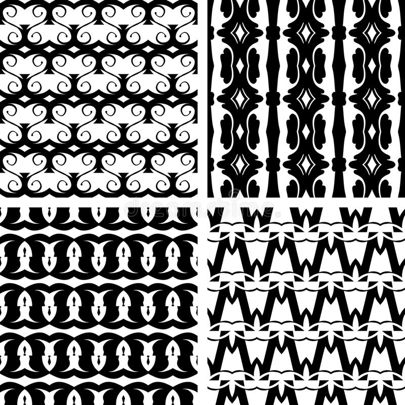 Download Set Seamless Decorative Pattern Stock Vector - Image: 34348430