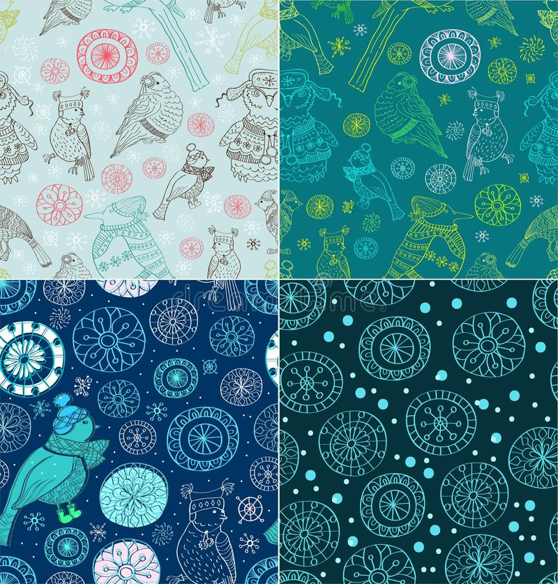 Download Set Of Seamless Doodle Background Stock Vector - Image: 27186297