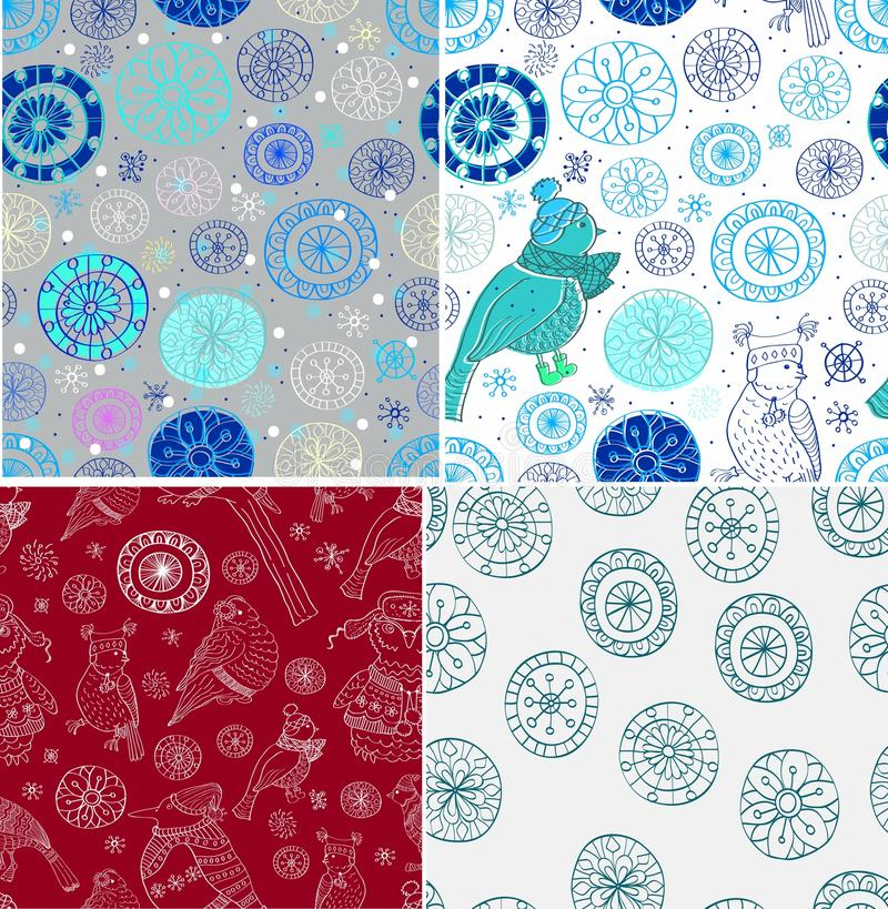 Download Set Of Seamless Doodle Background Stock Vector - Image: 27186305