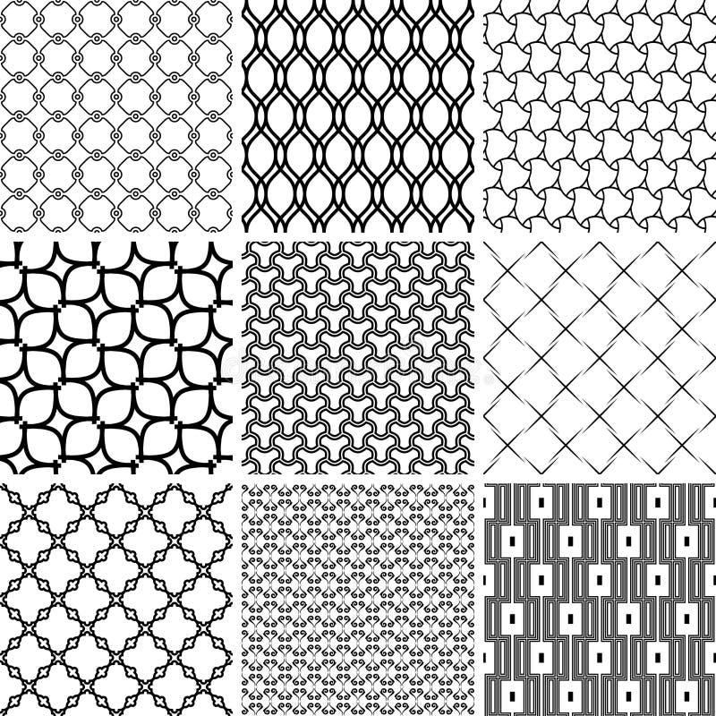 Set of Seamless Geometric Backgrounds royalty free illustration