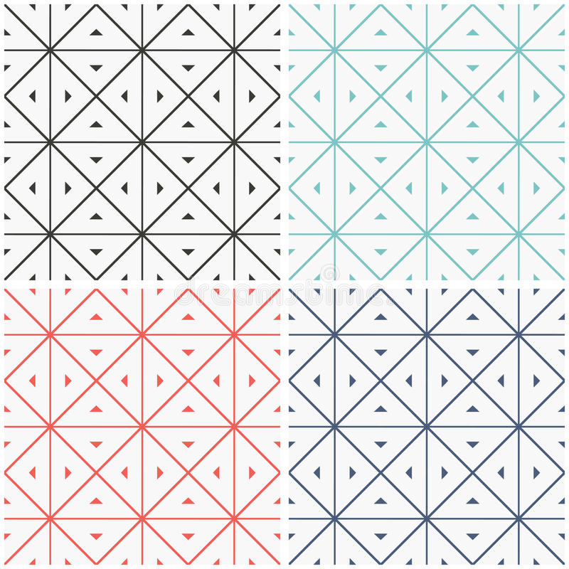 Set of seamless geometric patern. Set of seamless patern. Geometric repeating patern background. Vector background image vector illustration