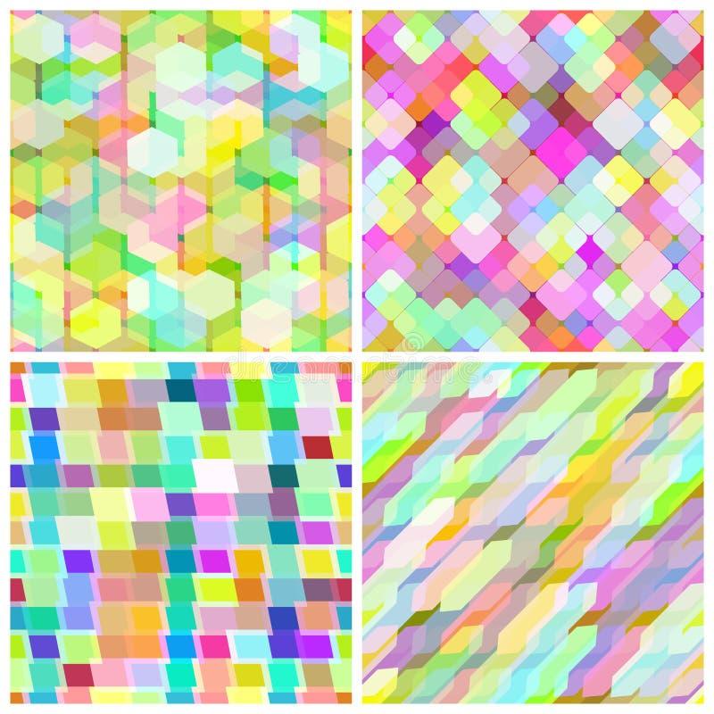 Download Set Seamless Geometric Pattern. Stock Vector - Illustration of modern, shape: 22835583