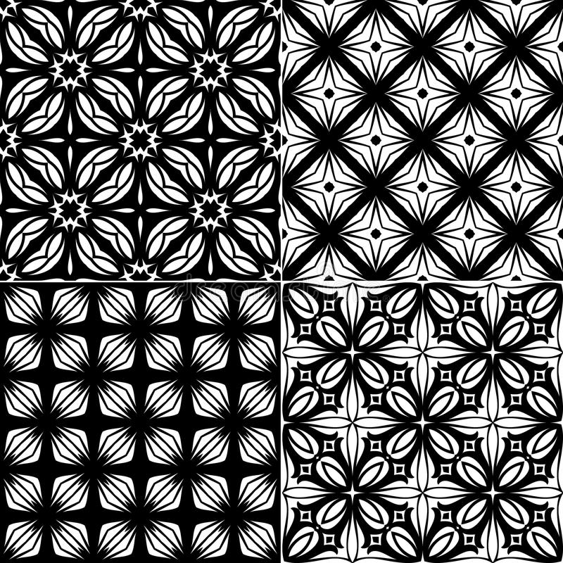 Download Set Seamless Geometric Pattern Stock Vector - Image: 34348437