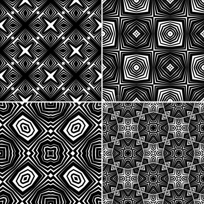 Download Set Seamless Geometric Pattern Stock Vector - Illustration: 34348461