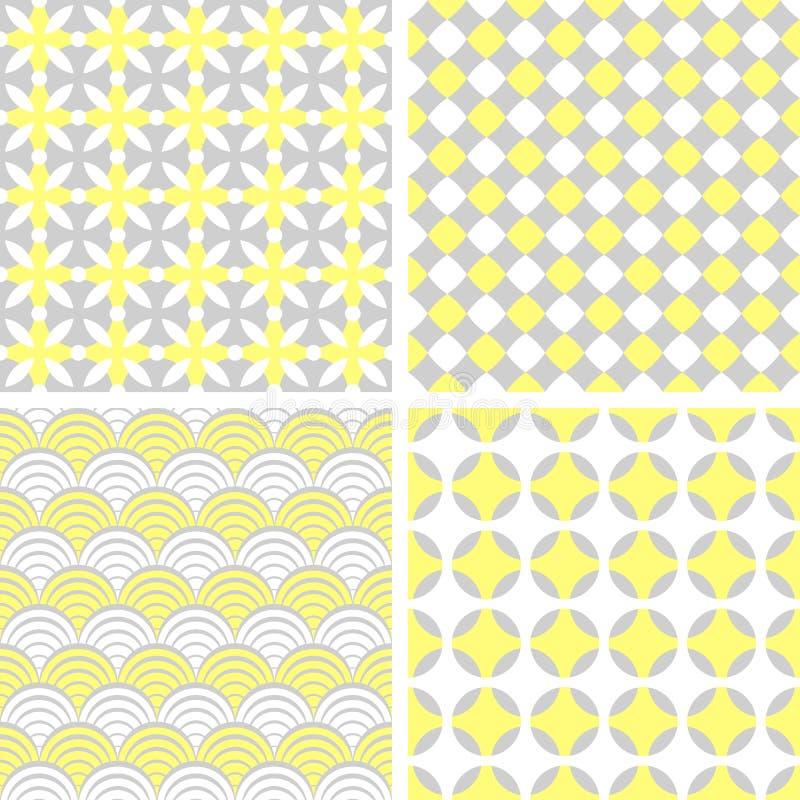 Set of seamless geometric patterns royalty free illustration