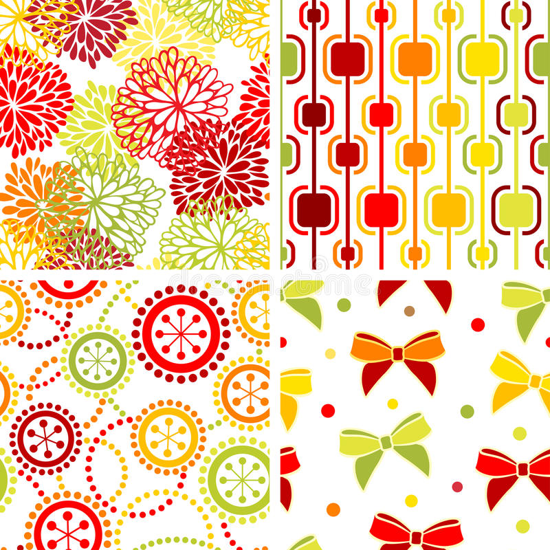 Download Set of seamless ornaments stock vector. Image of illustration - 15906835