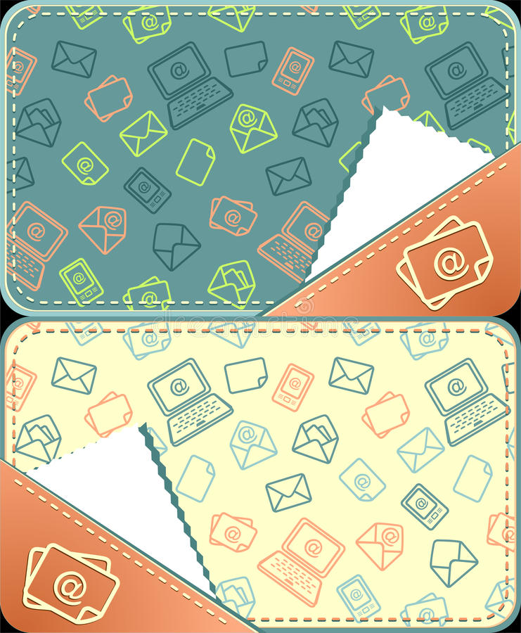 Set seamless pattern of email