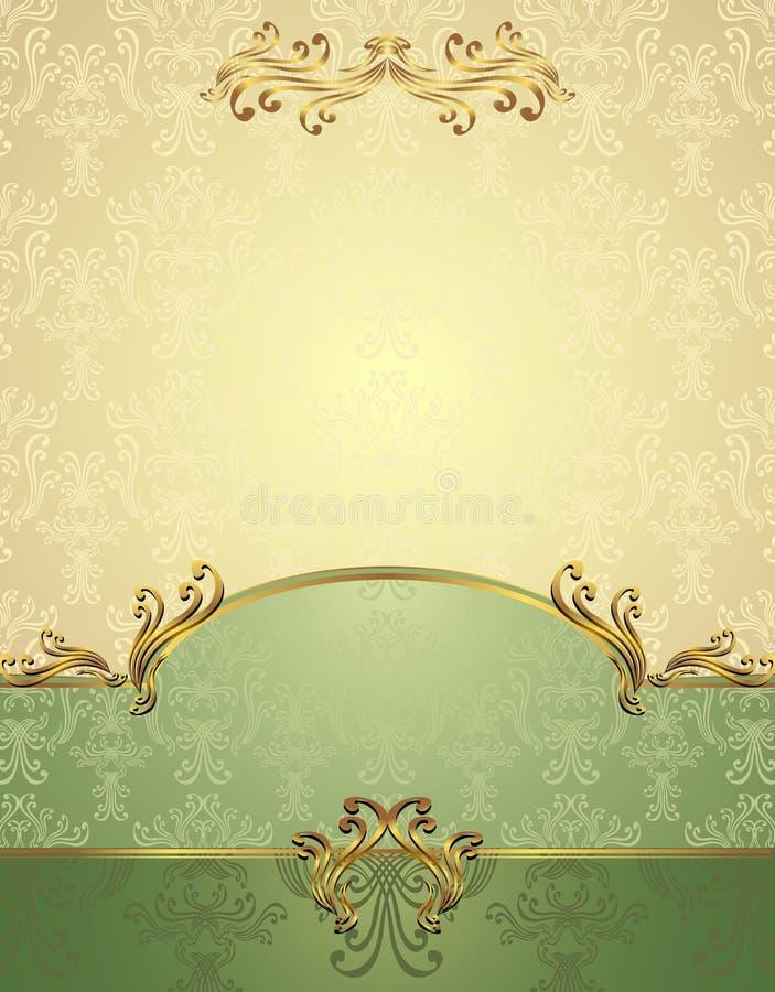 Set Seamless pattern in Victorian style stock illustration