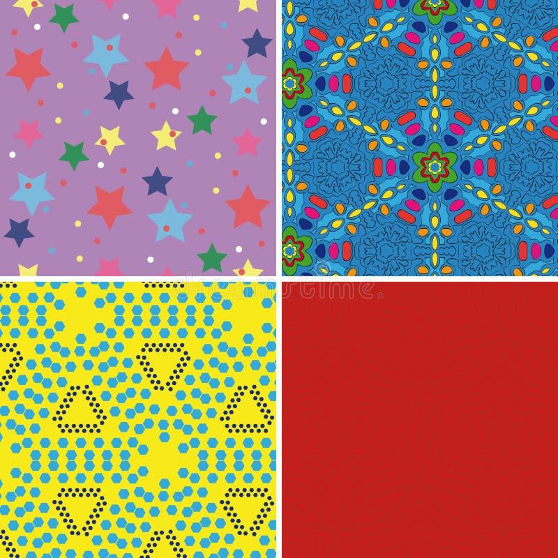 Set of seamless patterns 2 stock illustration