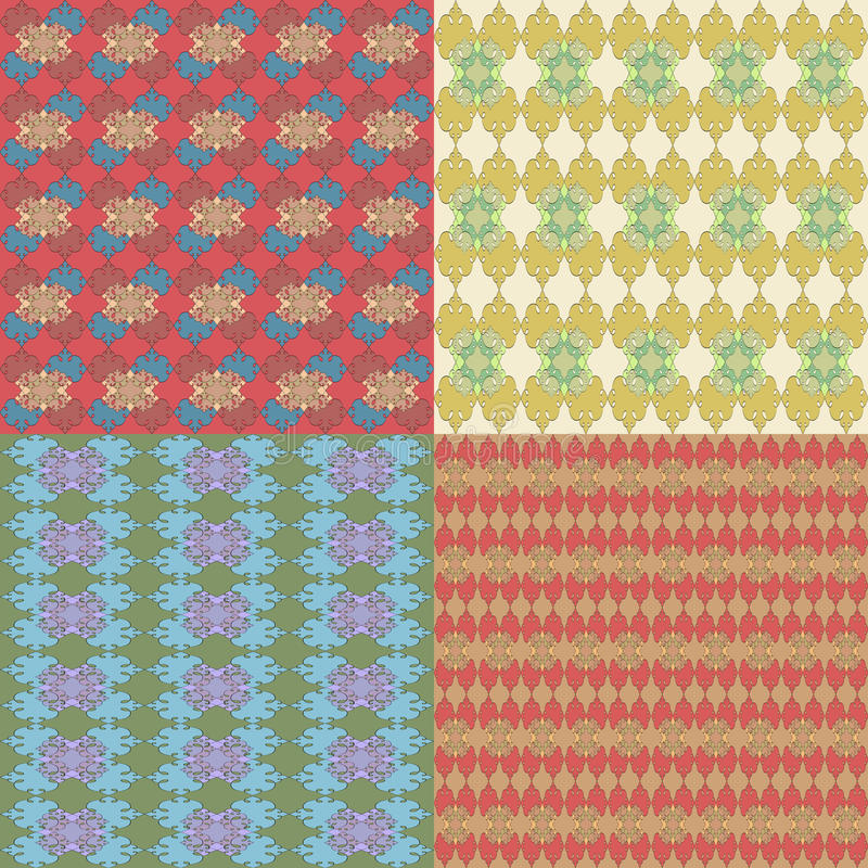 A set of seamless patterns vector illustration