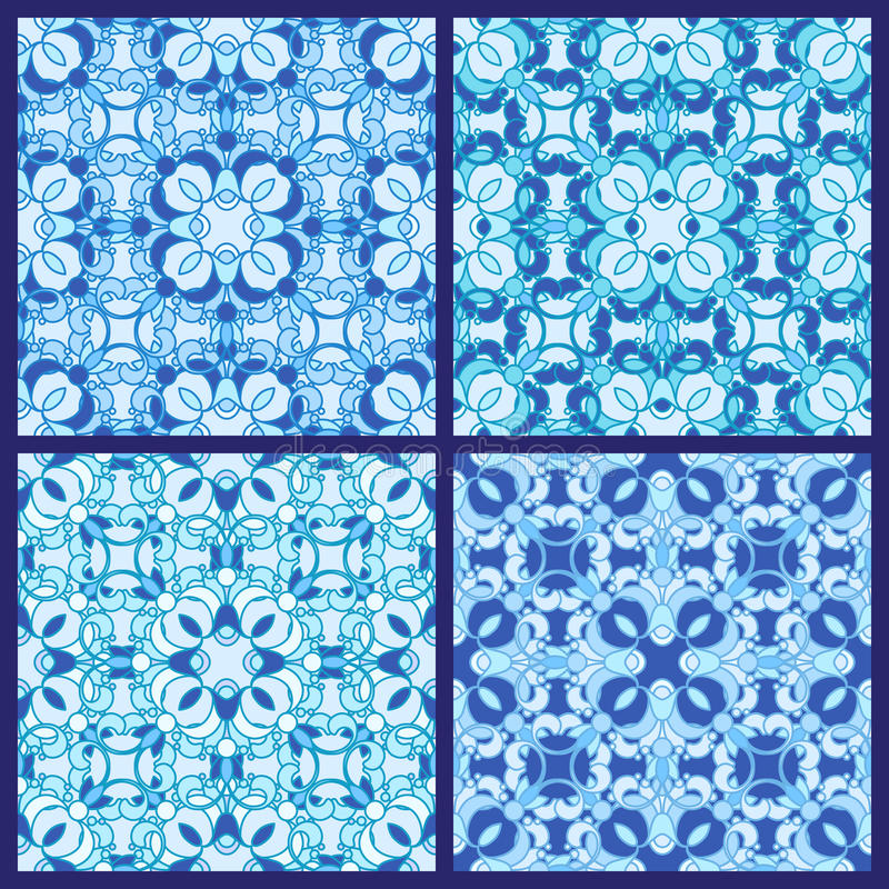 Download Set of seamless patterns stock vector. Image of flourish - 26638427