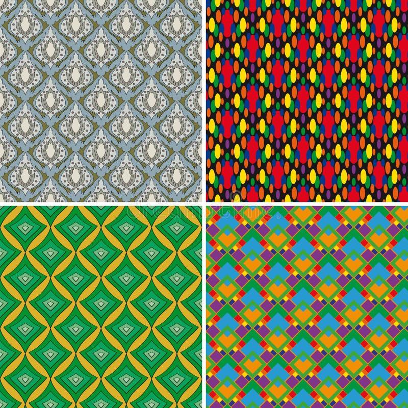 Set of seamless patterns 5 stock illustration