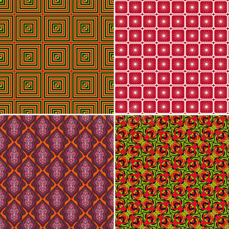 Set of seamless patterns 9 royalty free illustration