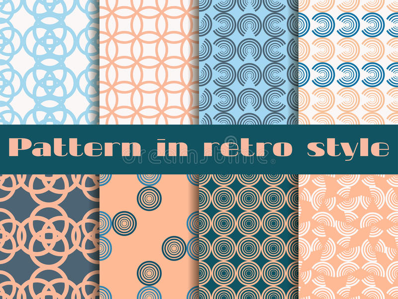 Set of seamless patterns in art deco style. Seamless background. Seamless background vector illustration