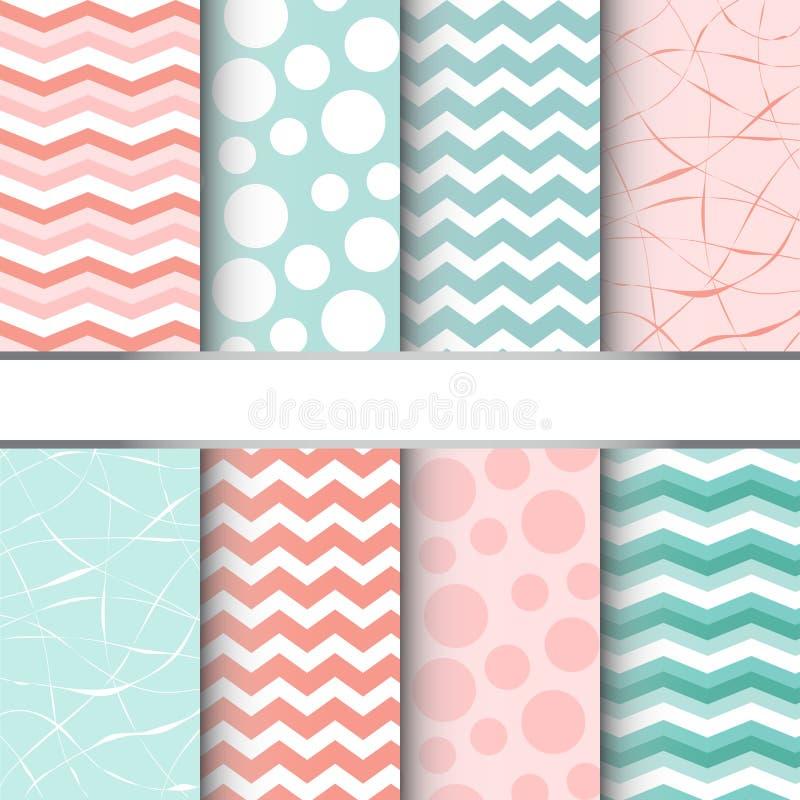 Set of seamless patterns stock illustration