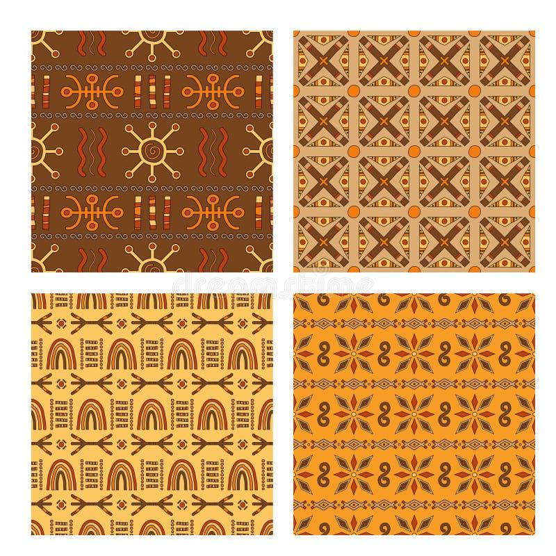 Set of seamless patterns. stock illustration