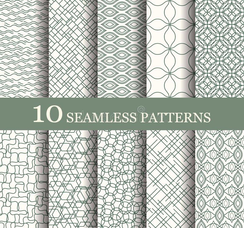Set of 10 seamless patterns royalty free illustration