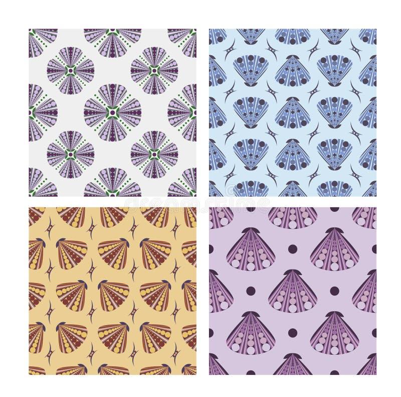 Set of seamless patterns. Floral print stock illustration