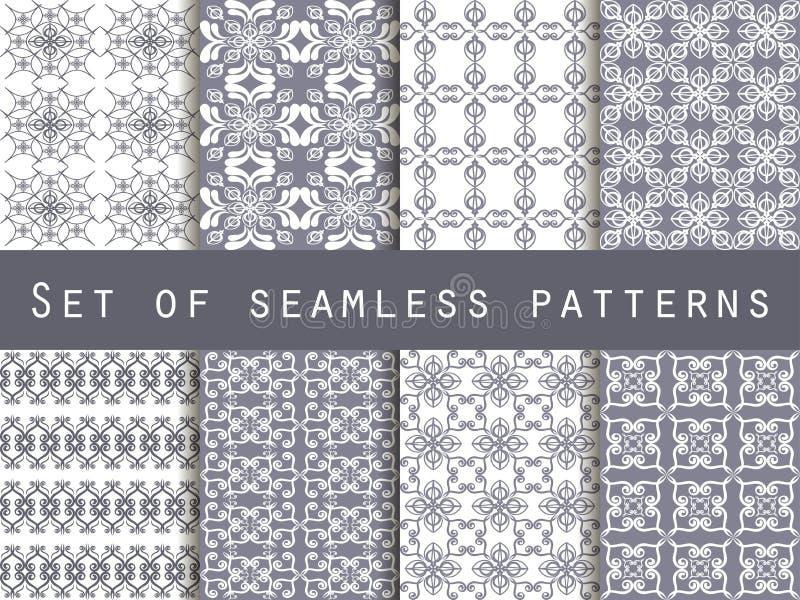 Set of seamless patterns. Geometric patterns. The pattern for wa vector illustration