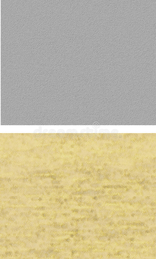 Set of seamless plaster textures. stock image