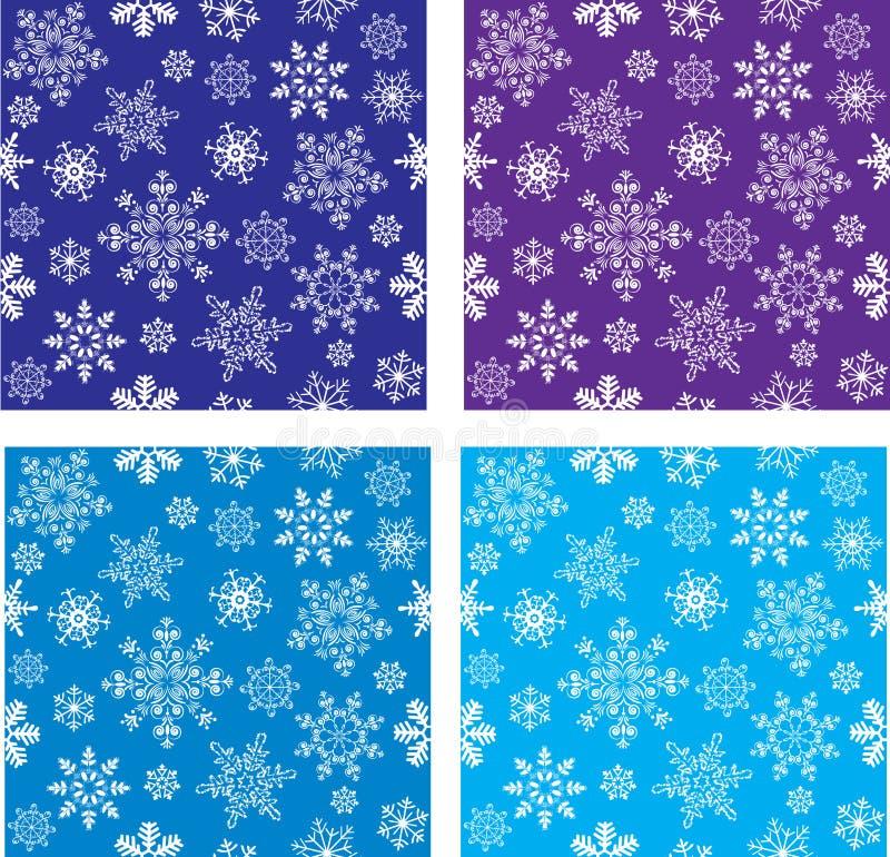 Set of seamless with snowflakes stock photo