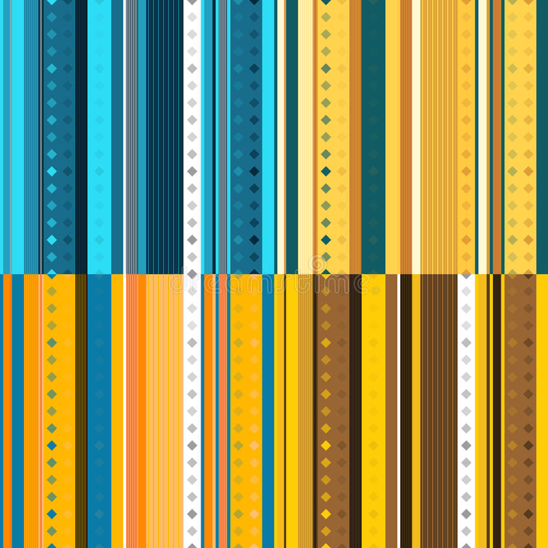 Set of seamless striped pattern with diamonds suitable. For the textile industry.Vector.Art vector illustration