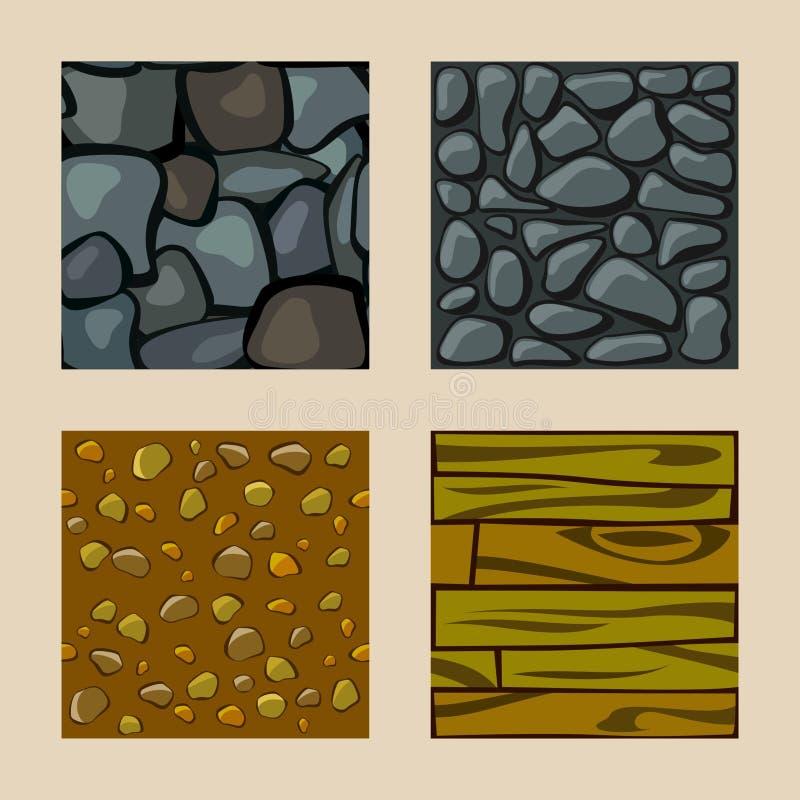 Set of seamless texture royalty free illustration