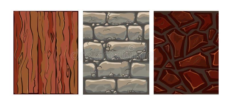 Set of seamless texture vector illustration