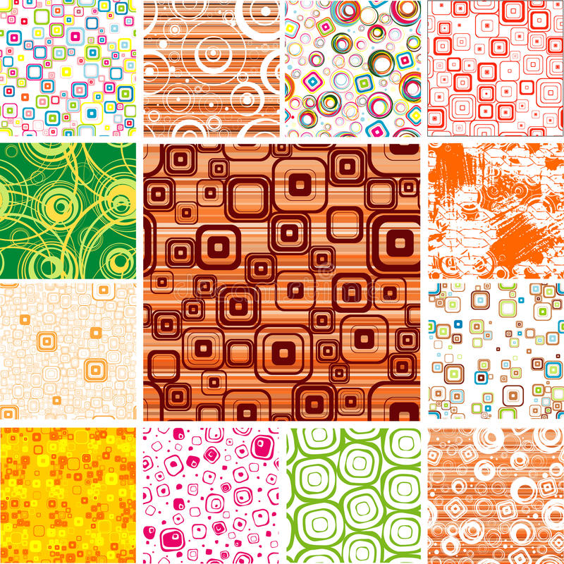 Free Set SEAMLESS Wallpapers. Royalty Free Stock Photo - 12129305