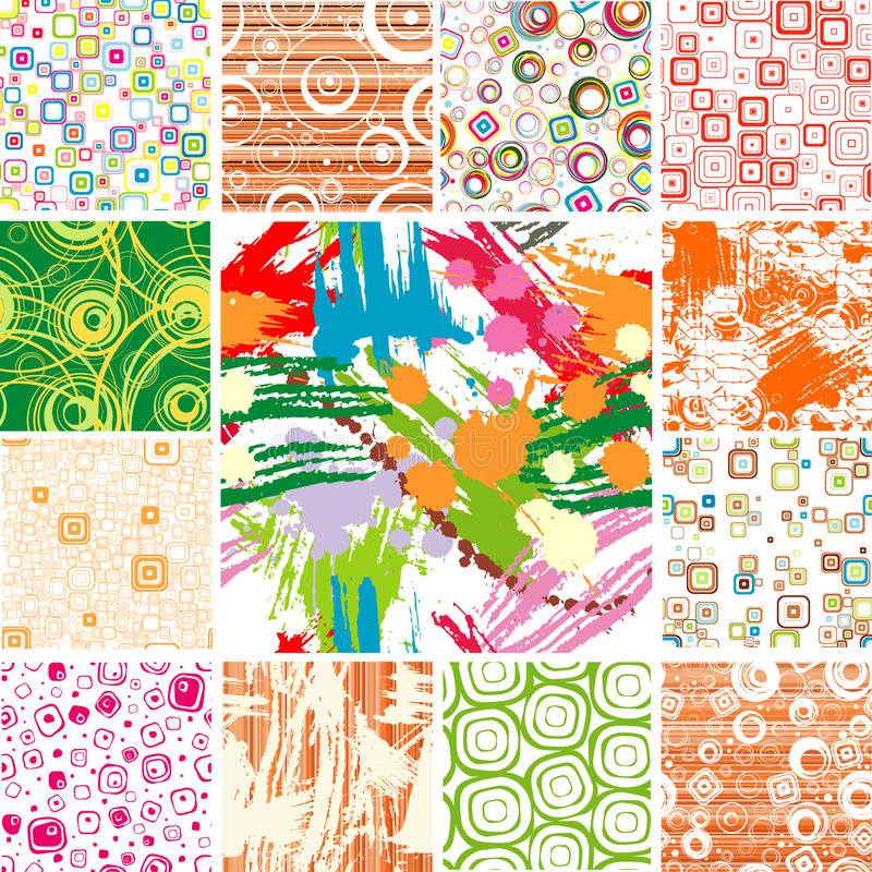 Free Set SEAMLESS Wallpapers. Stock Images - 12130004