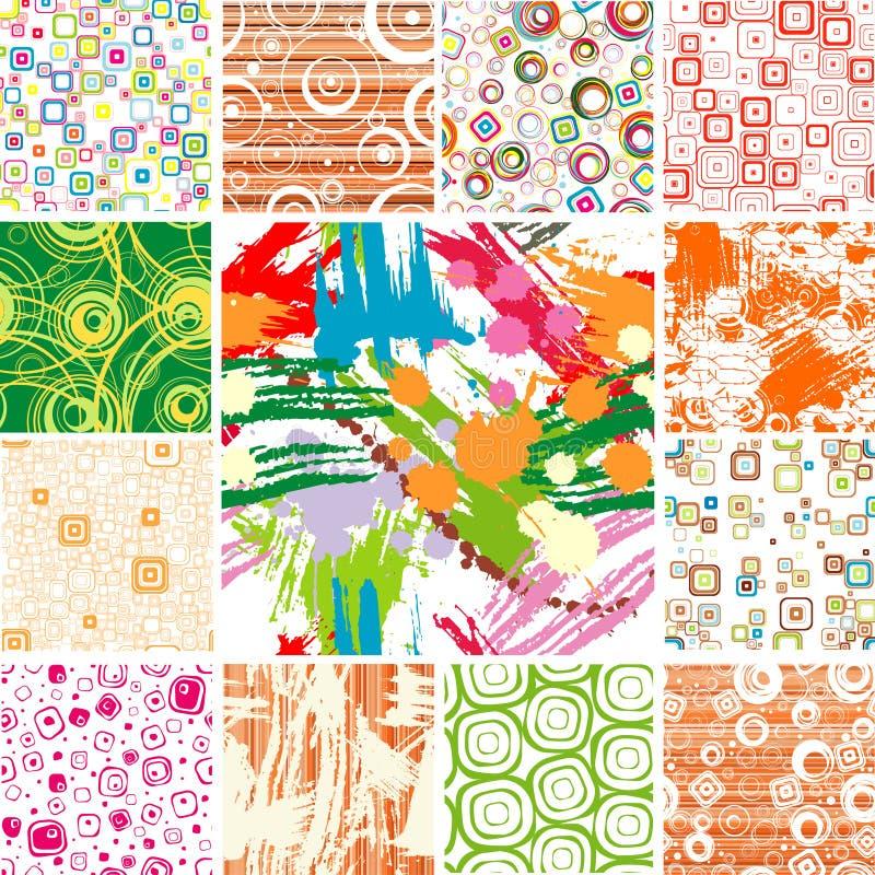 Set SEAMLESS wallpapers. vector illustration