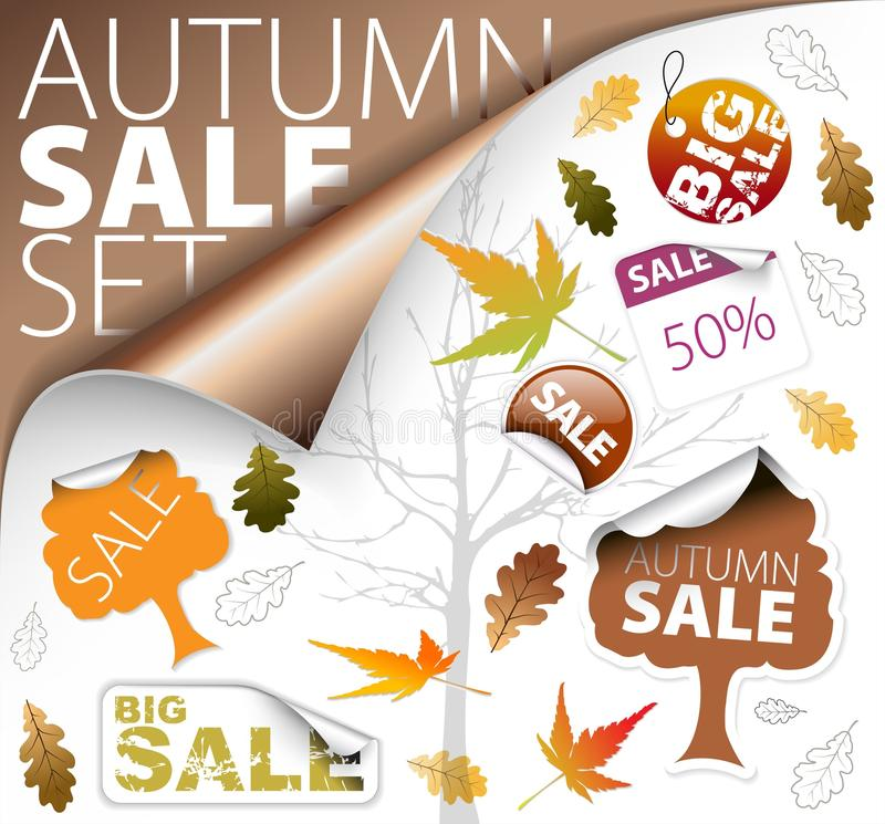 Download Set Of Season (fall) Tickets And Sale Labels Stock Photos - Image: 15915683