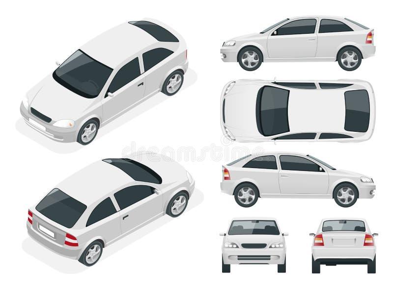 Set sedan samochody ilustracja wektor