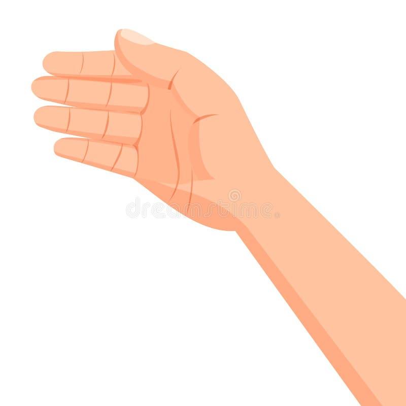 Set of several hands. royalty free illustration