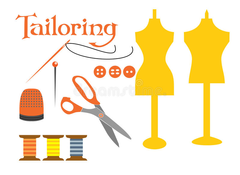 Download Set of sewing tools icons stock vector. Image of element - 31105515