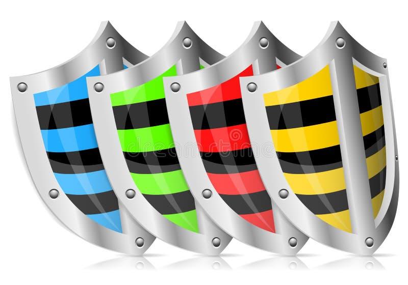 Download Set Shield Safety stock vector. Image of concept, defender - 24676663