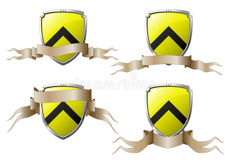 Download Set Of Shields With Banners Stock Vector - Image: 11187294