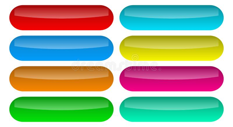 Set shiny buttons icons vector stock illustration