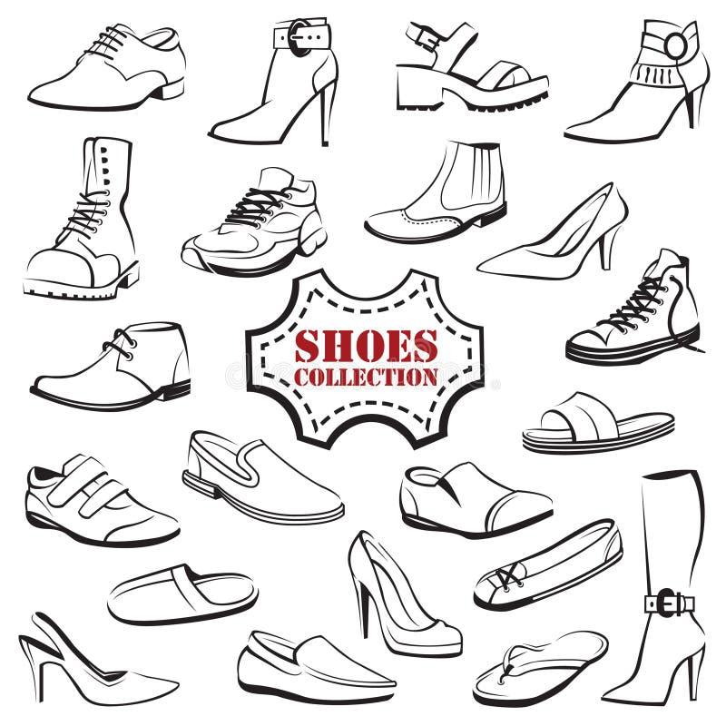 Set of shoes vector illustration