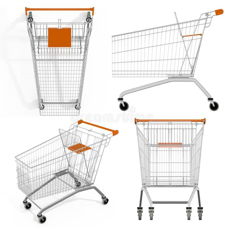 Set of shopping carts royalty free stock image