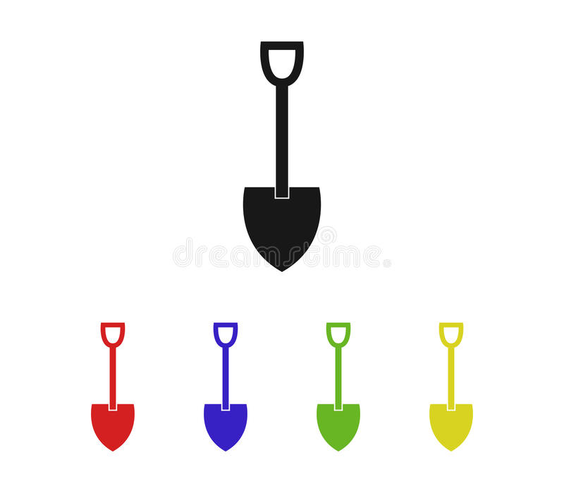 Set of shovel to dig. On white background royalty free illustration