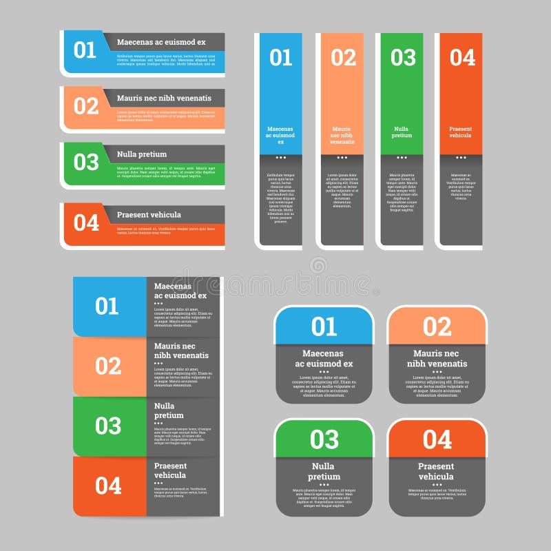 Set sieć projekta elementy - mowa sztandary Wektorowy pojęcie ilustracji